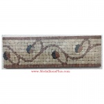 "Trenton (rojo), Honed Mosaic Tile Listello 4"" x 12"""